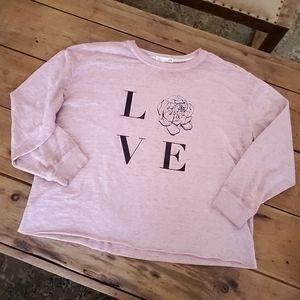 C&C California pink LOVE long sleeve crewneck XL